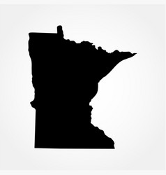 Map us state minnesota vector