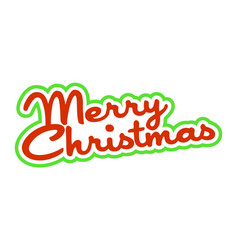 Merry christmas text font graphic vector
