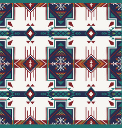 Native southwest american indian aztec navajo vector