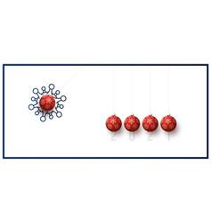 new year card inspired pendulum balls vector image