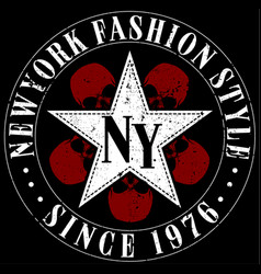 New york typography design vector