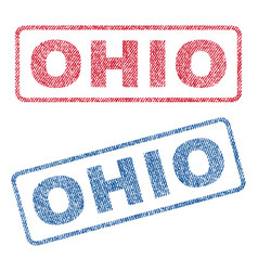 ohio textile stamps vector image