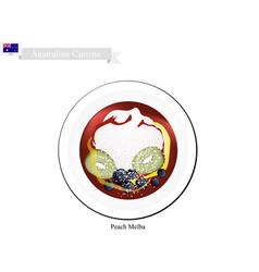 Peach melba ice cream famous australian dessert vector