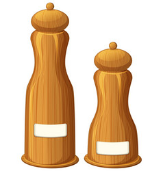 Pepper and salt shakers made of wood vector