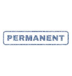 Permanent textile stamp vector