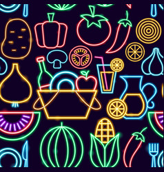 picnic seamless pattern vector image