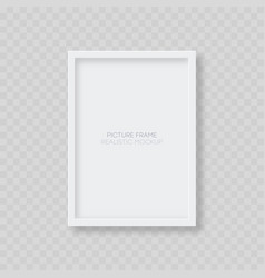 picture frame mockup realistic blank vertical vector image