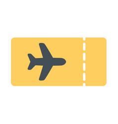 Plane ticket icon simple minimal 96x96 pictogram vector