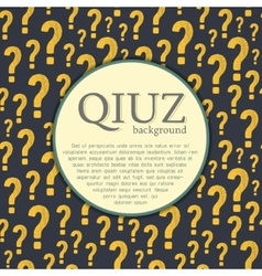 Quiz background question and answer vector