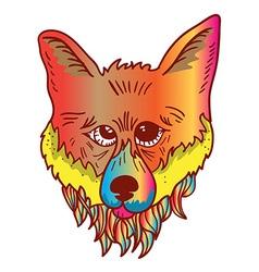Rainbow fox vector