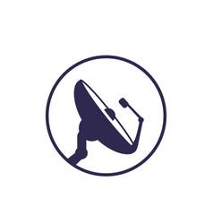 Satellite dish icon on white vector