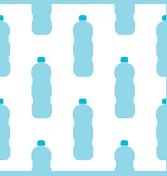 seamless pattern with blue plastic bottles vector image