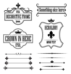 Set of vintage frames borders and deviders vector image