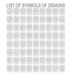 Set with symbols demons vector