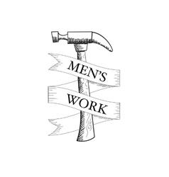 Sketchy Hammer vector image