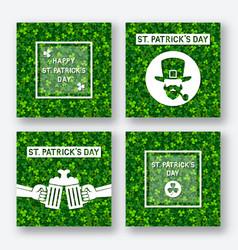 st patricks day greeting card set vector image