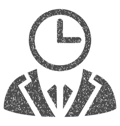 Time Duty Person Grainy Texture Icon vector