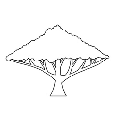 Tree with a spreading crown icon outline style vector