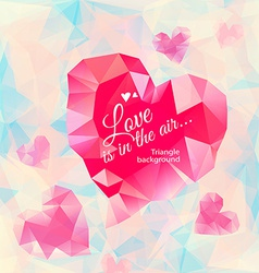Triangle heart background vector image