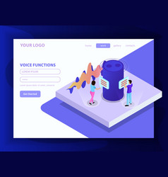 Voice functions isometric composition vector
