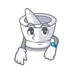 Waiting mortar mascot cartoon style vector