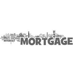 what s a mortgage text word cloud concept vector image