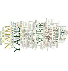 Yael naim was fr eine knstlerin text background vector