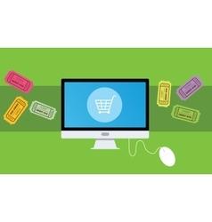 buying an ticket online vector image vector image