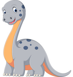 cute dinosaur diplodocus cartoon vector image