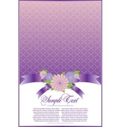 Elegant violet background vector image vector image
