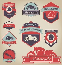 Motorcycle shop label design 2 vector