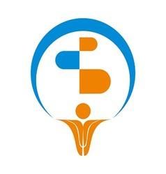 Pharma Logo Symbol vector image