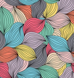 Seamless abstract wavy hand-drawn pattern Endless vector image