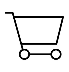 shopping cart pixel perfect thin line icon 48x48 vector image