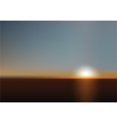 blurred sunset background vector image vector image