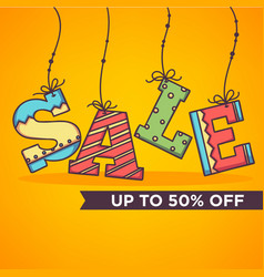 bright and ornamettal sale banner flyer template vector image vector image