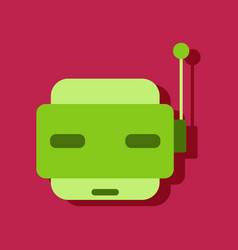 flat icon design collection toy robot face in vector image