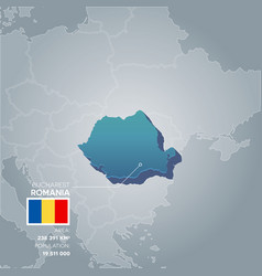 Romania information map vector