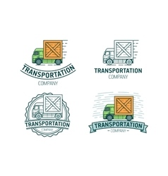 Set of transportation logo vector