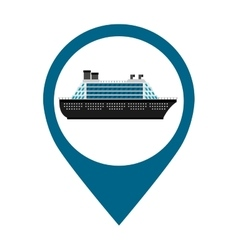 ship cruise boat icon vector image