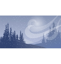 Snowfall with Wind vector image