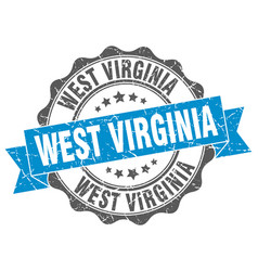 west virginia round ribbon seal vector image