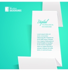 White folded paper vector image vector image