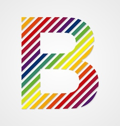 Alphabet Letter B vector image vector image