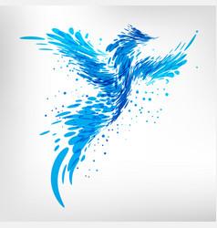 blue fantasy bird vector image vector image