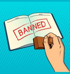 Denial of entry pop art vector