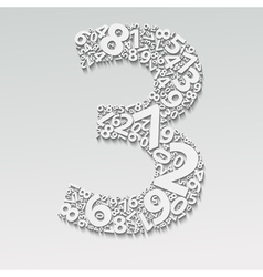 Number three vector image vector image