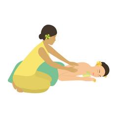 spa massage vector image vector image