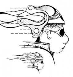unreal head vector image vector image