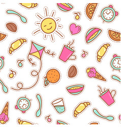 Breakfast seamless pattern vector